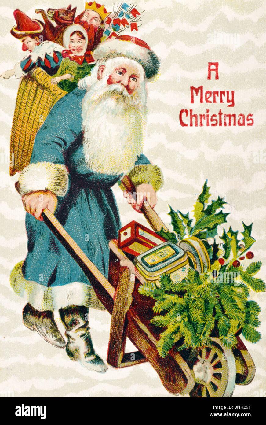 Weihnachten Nostalgisch.Frohe Weihnachten Nostalgie Karten 1900 Stockfoto Bild 30493065