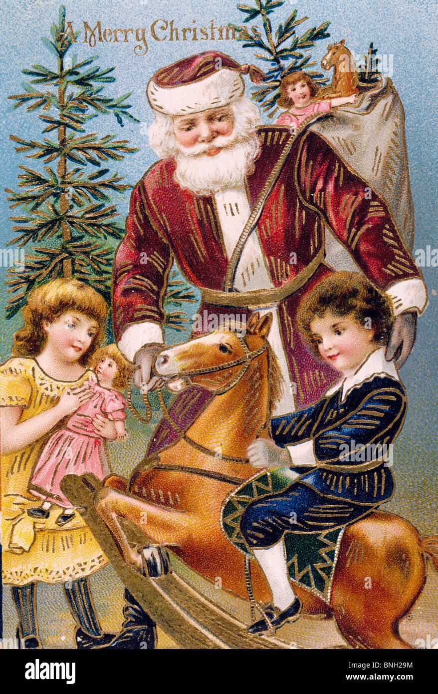 Bilder Weihnachten Nostalgisch.Frohe Weihnachten Nostalgie Karten Stockfoto Bild 30493168 Alamy