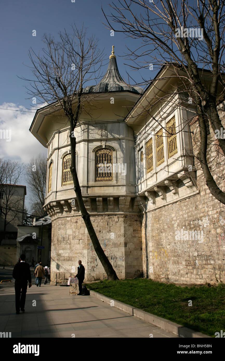 Die Prozession Pavillion oder Alay Kosku in Gulhane, Istanbul, Türkei, von wo der Sultan Prozessionen heimlich Stockbild