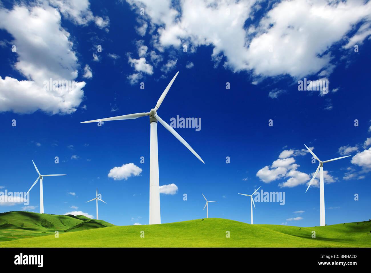 Wind-Turbinen-Landschaft. Stockbild