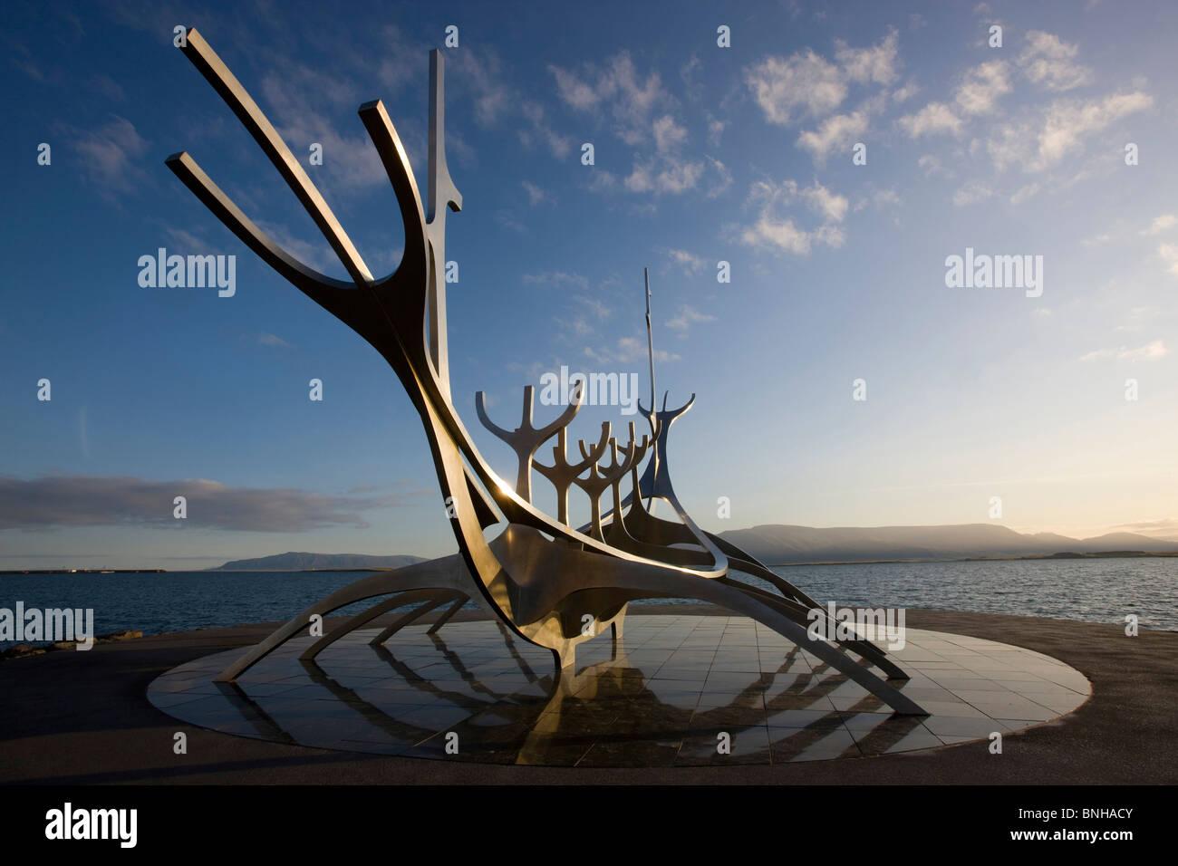 Island Reykjavik Solfar Natur Landschaft Landschaft Reisen Architektur  Skulptur Von Jon Gunnar Arnason Moderne Kunstwerke Viking