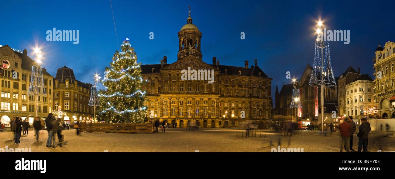 Der Niederlande Holland Amsterdam Stadt Weihnachten Lichter