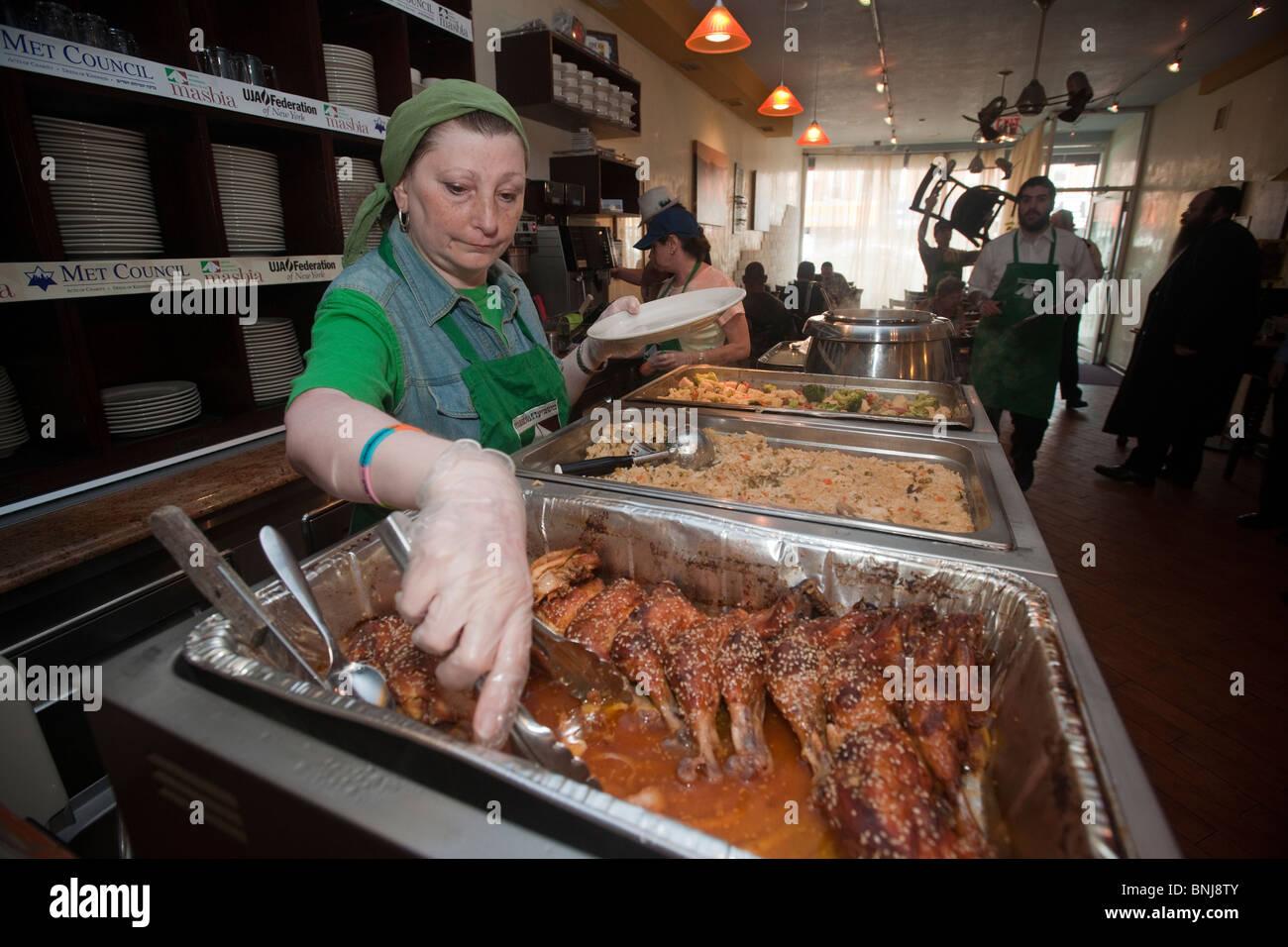 Die Masbia koscher Suppenküche im Stadtteil Flatbush, Brooklyn in ...