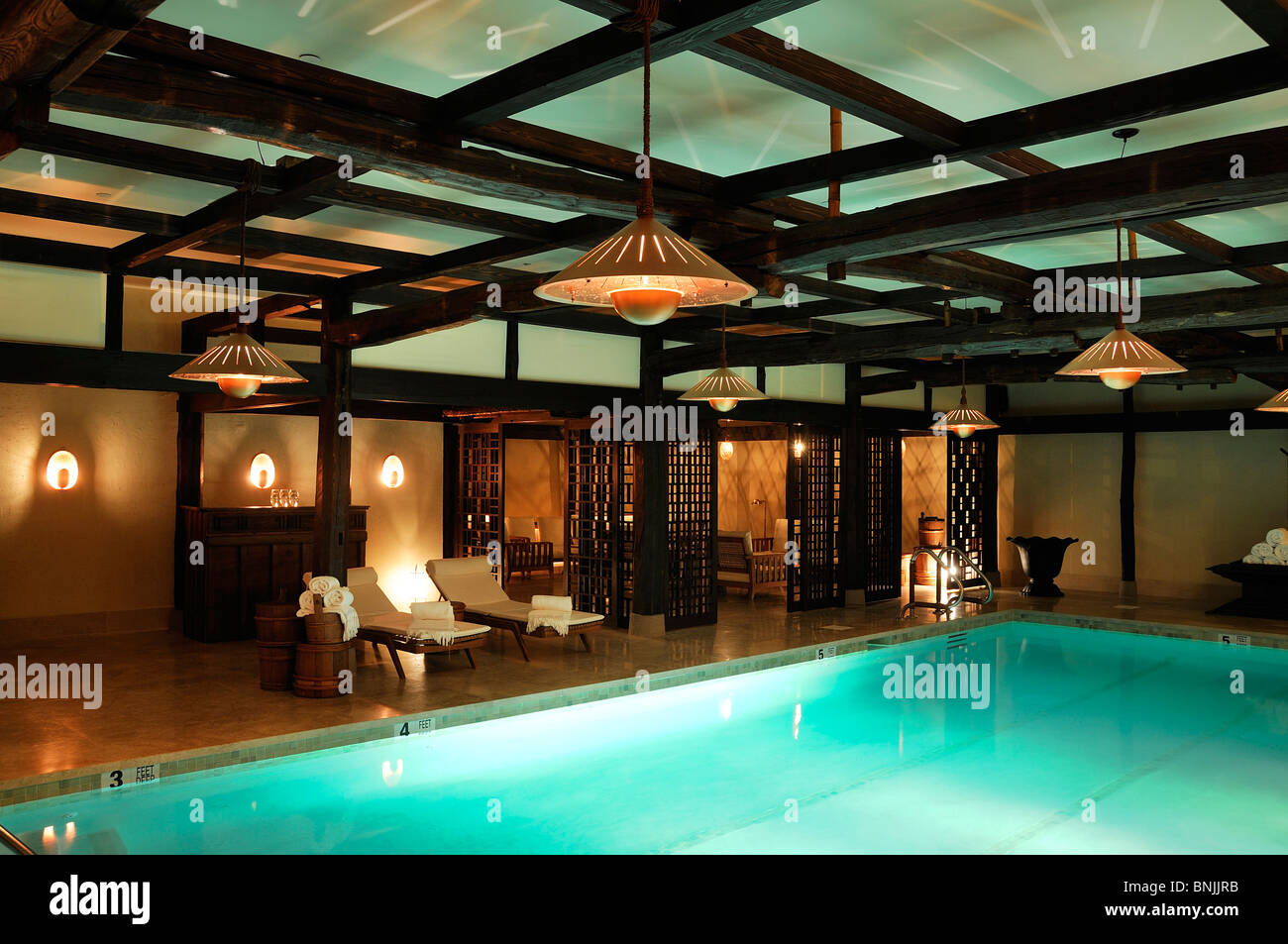 Indoor Pool The Greenwich Hotel Tribeca Manhattan New York USA Schwimmbad Stadt Reisen American urban Stockbild