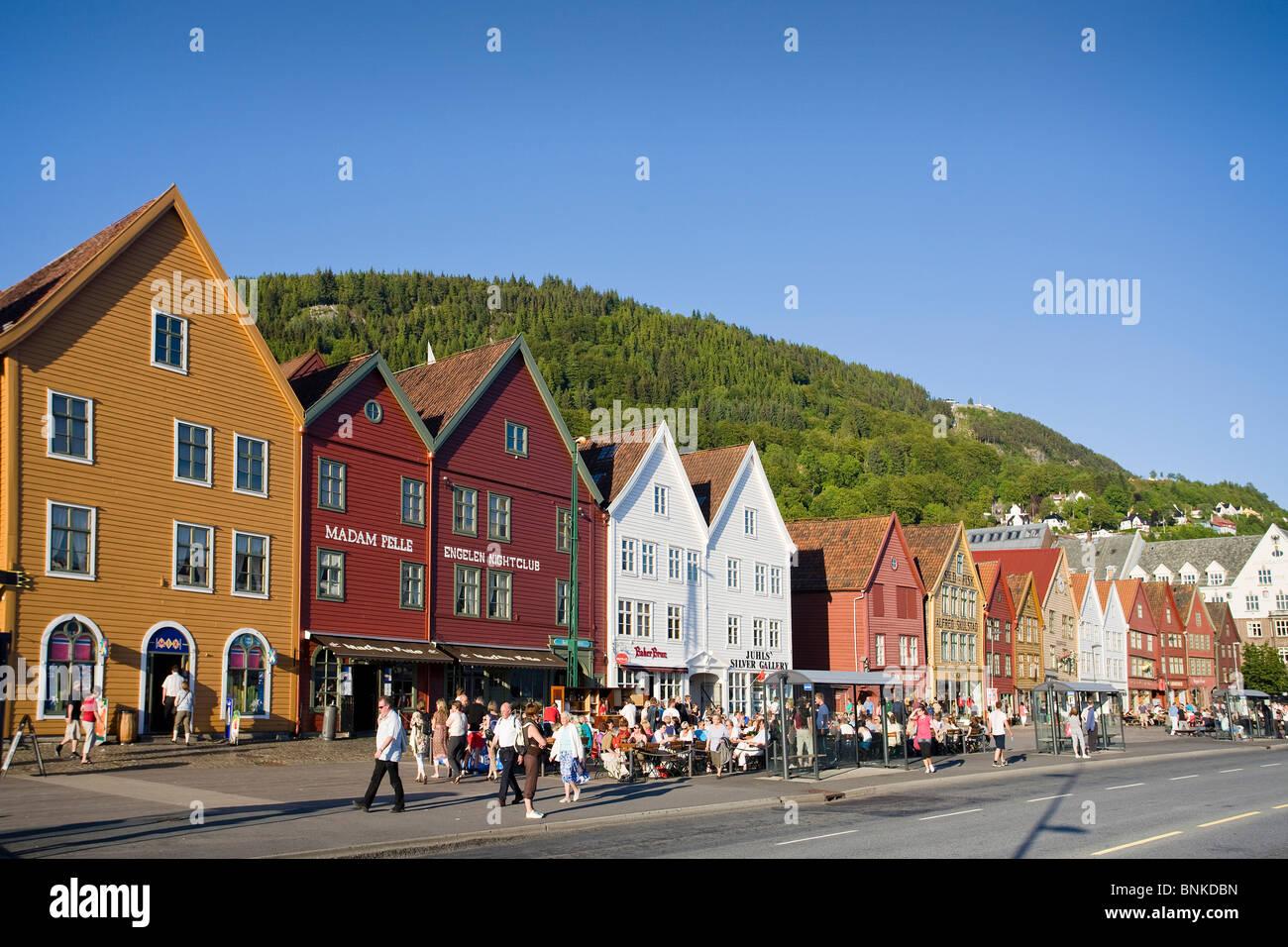 norwegen skandinavien bergen stadt briggen bryggen hanse. Black Bedroom Furniture Sets. Home Design Ideas