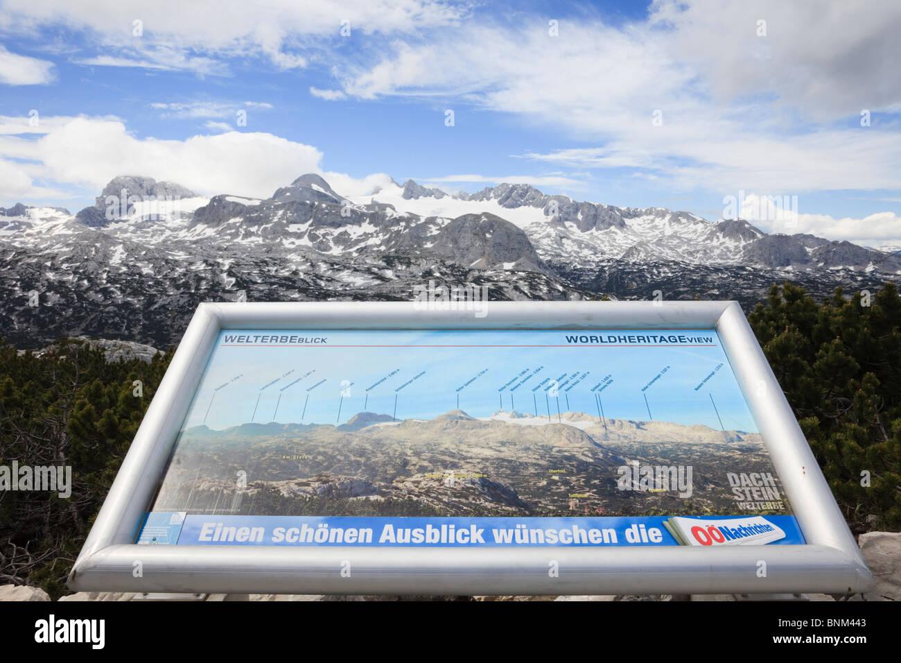Dachstein Wandern Welt WorldNaturalHeritage Aussichtspunkt auf dem Krippenstein Mountain in der Dachstein-Massiv. Stockbild