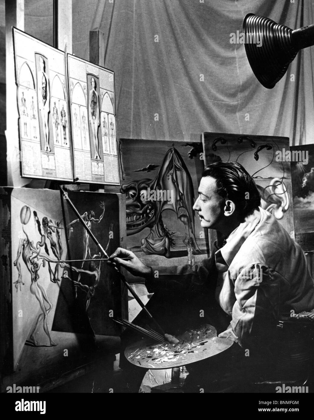 Spanische Künstler SALVADOR DALI (1984-89) arbeiten und Leben in den USA 1940 - siehe Beschreibung unten Stockfoto