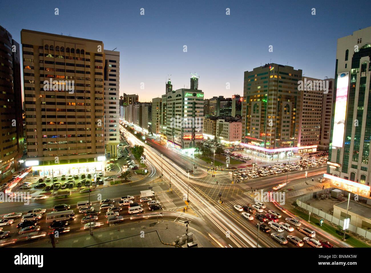 Abu Dhabi UAE Vereinigte Arabische Emirate Nahost Reisen Ort von Interesse Wahrzeichen Stockbild