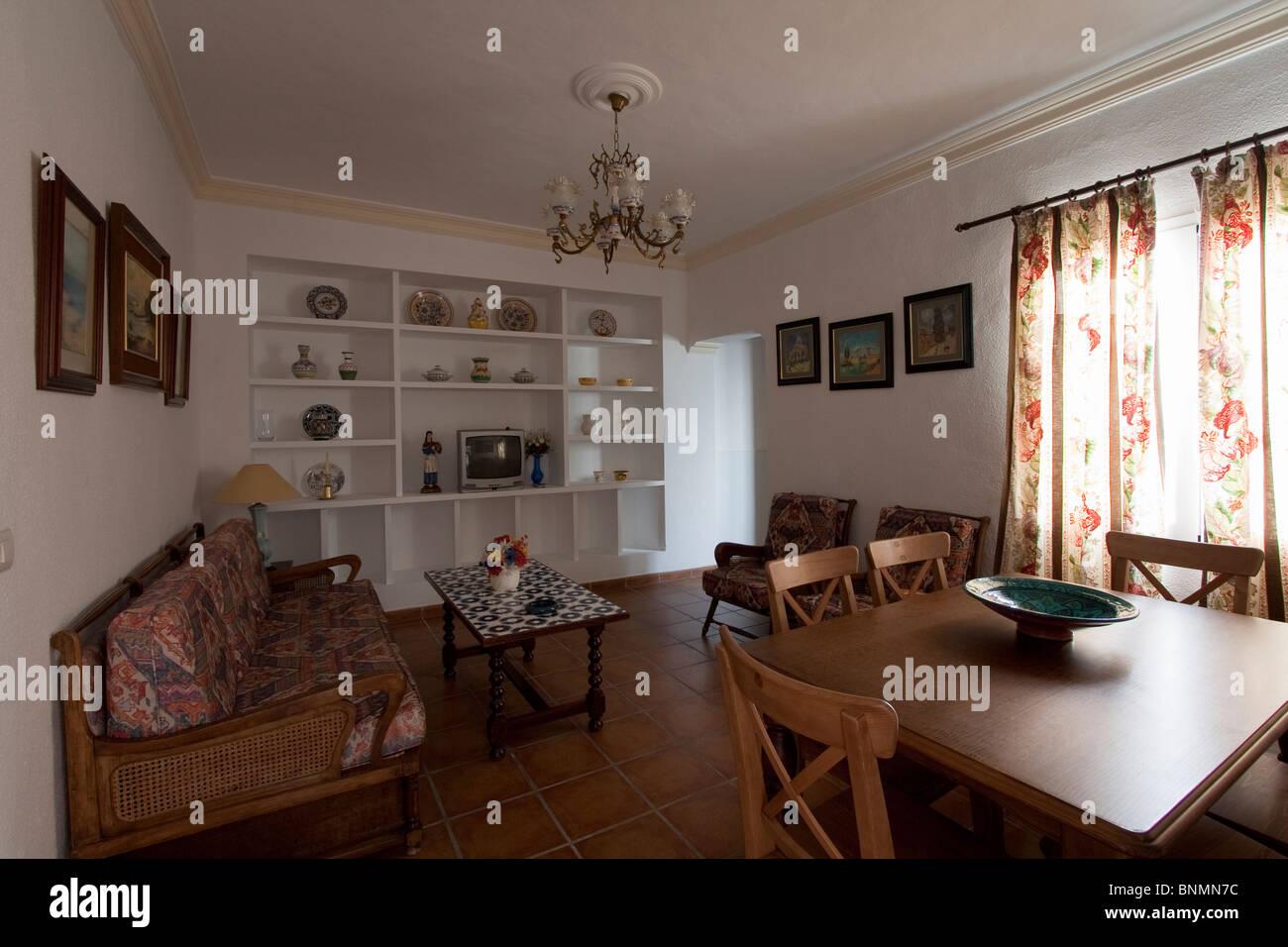Ein Wohnzimmer in ein traditionelles spanisches Haus Stockfoto, Bild ...