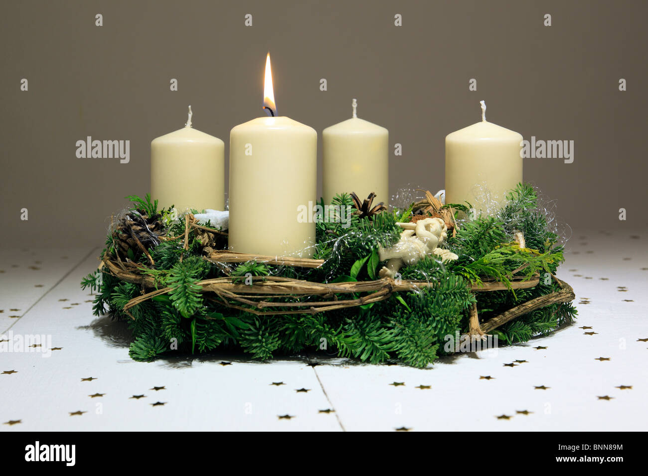 1 4 advent advent kranz adventszeit deko dekoration schmuck engel flamme flammen holz - Dekoration advent ...