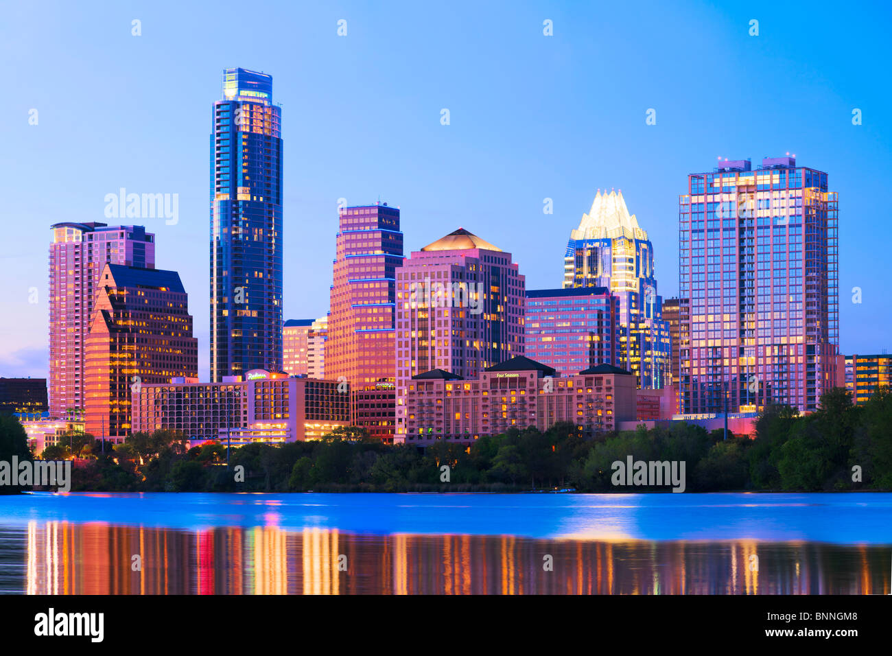 2010 Skyline von Austin, Texas Stockbild