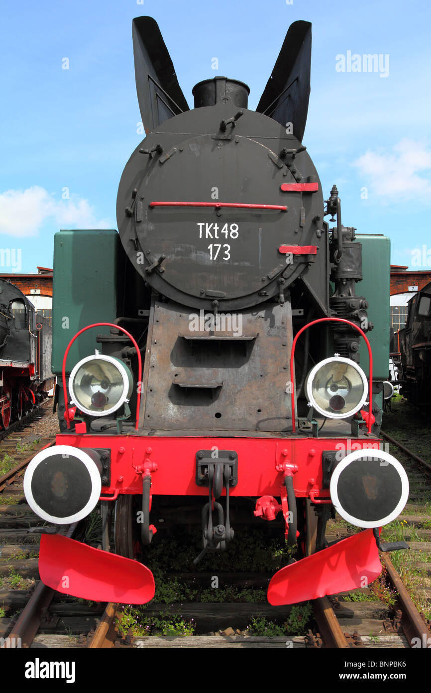 Alte Dampfmaschine-Lok Oldtimer-Maschine Stockbild