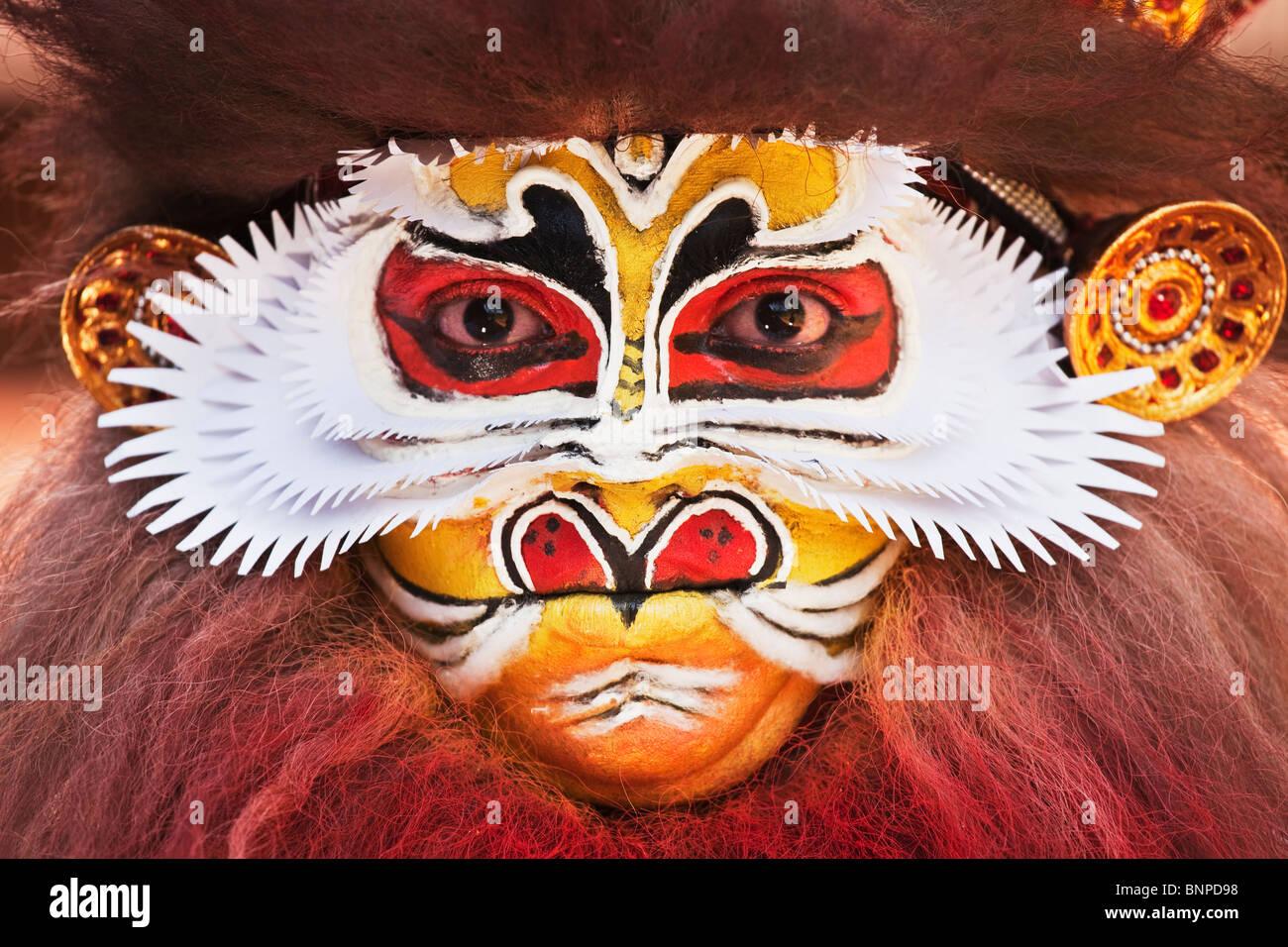 Kathakali Tanzcharakter Stockbild
