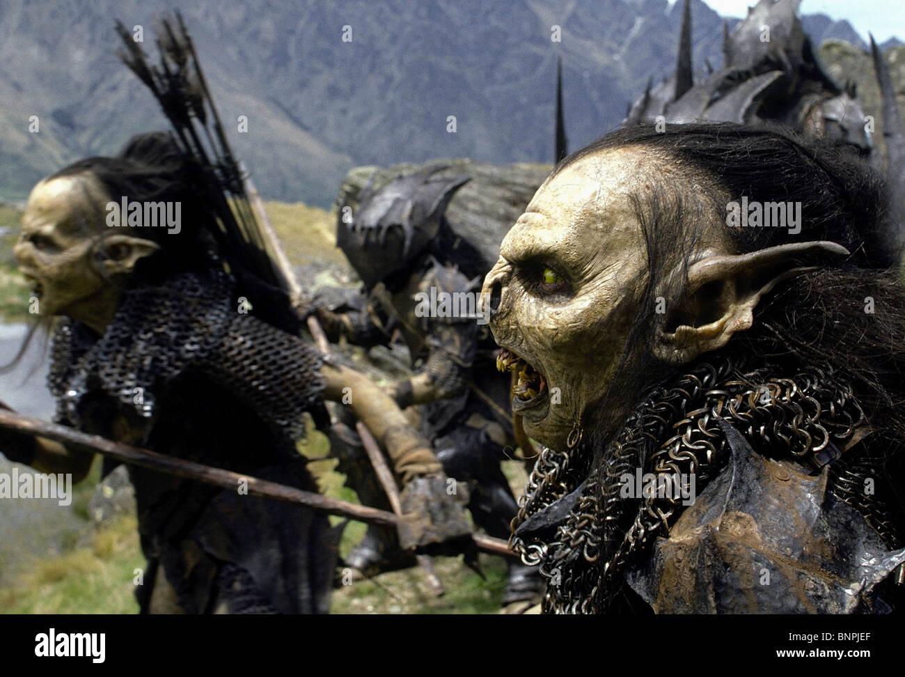 Die Orks Der Herr Der Ringe Die Gefährten 2001 Stockfoto Bild
