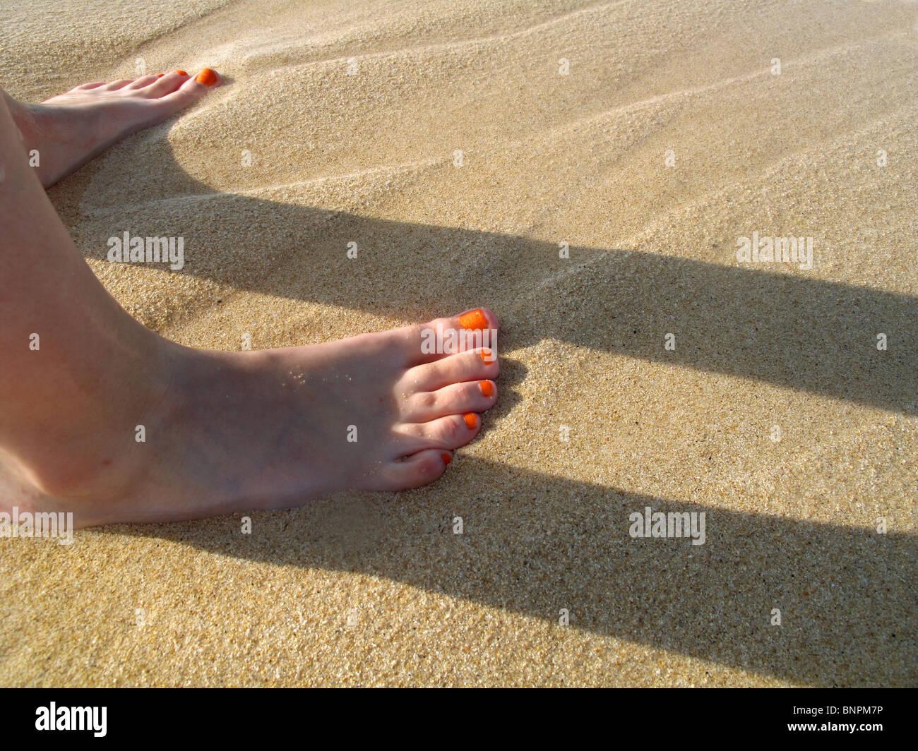 Gelbe Fußsohlen Kind