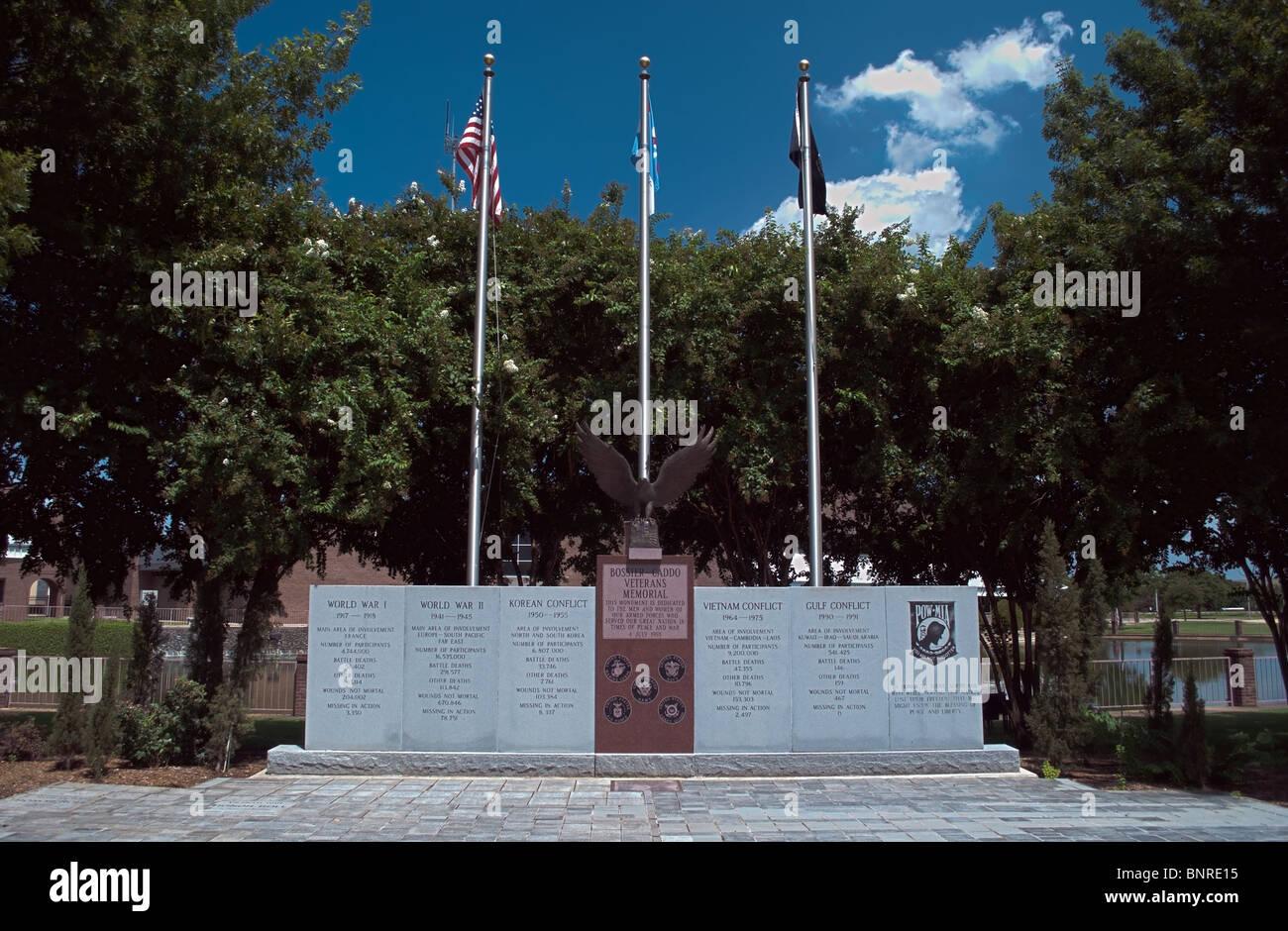 Bossier City-Veteran-Denkmal - HDR. Stockbild