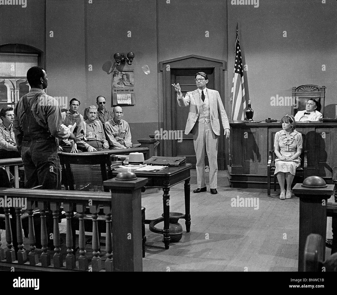 BROCK PETERS, Gregory Peck, ZU TÖTEN, um eine Spottdrossel, 1962 Stockbild