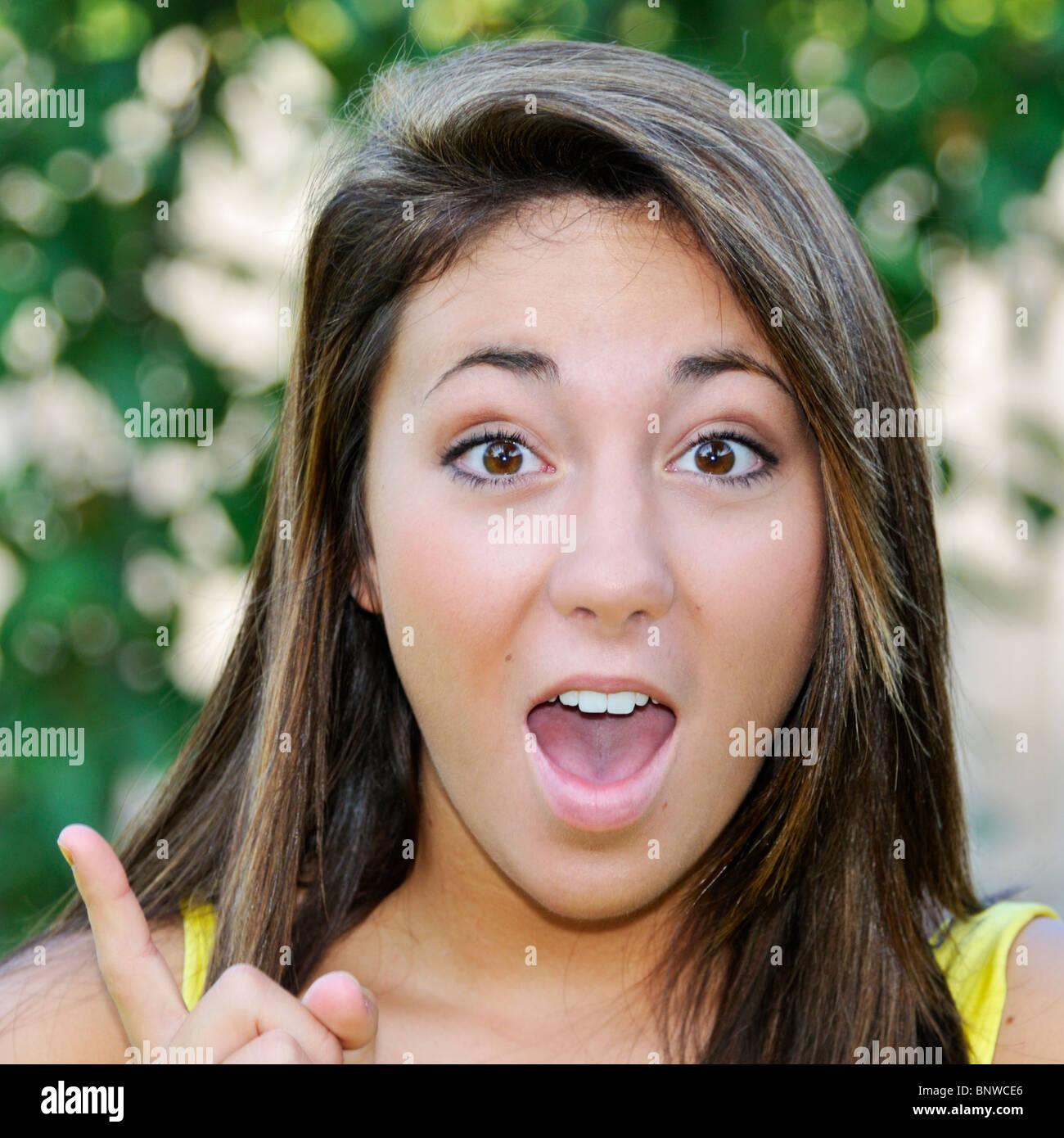 Teen Girl 16 Years Old Stockfotos Teen Girl 16 Years Old Bilder