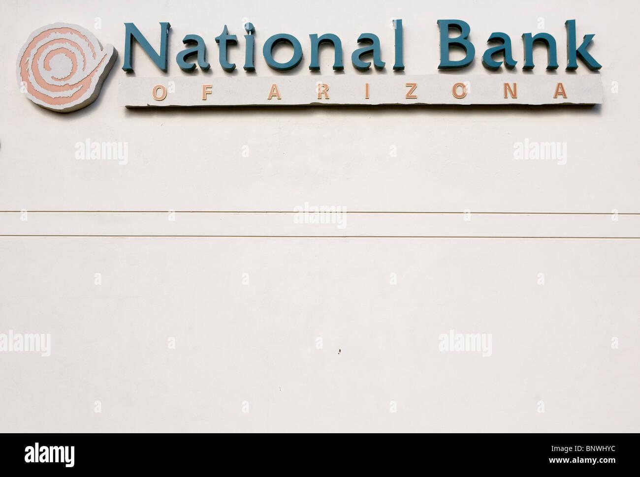 Eine Filiale der National Bank Of Arizona. Stockbild