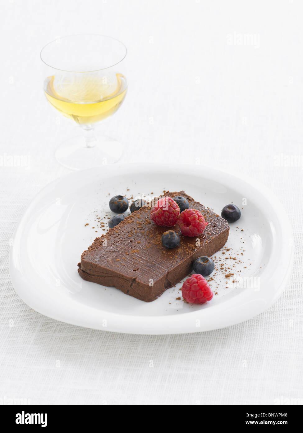 Schokoladen-marquise Stockbild