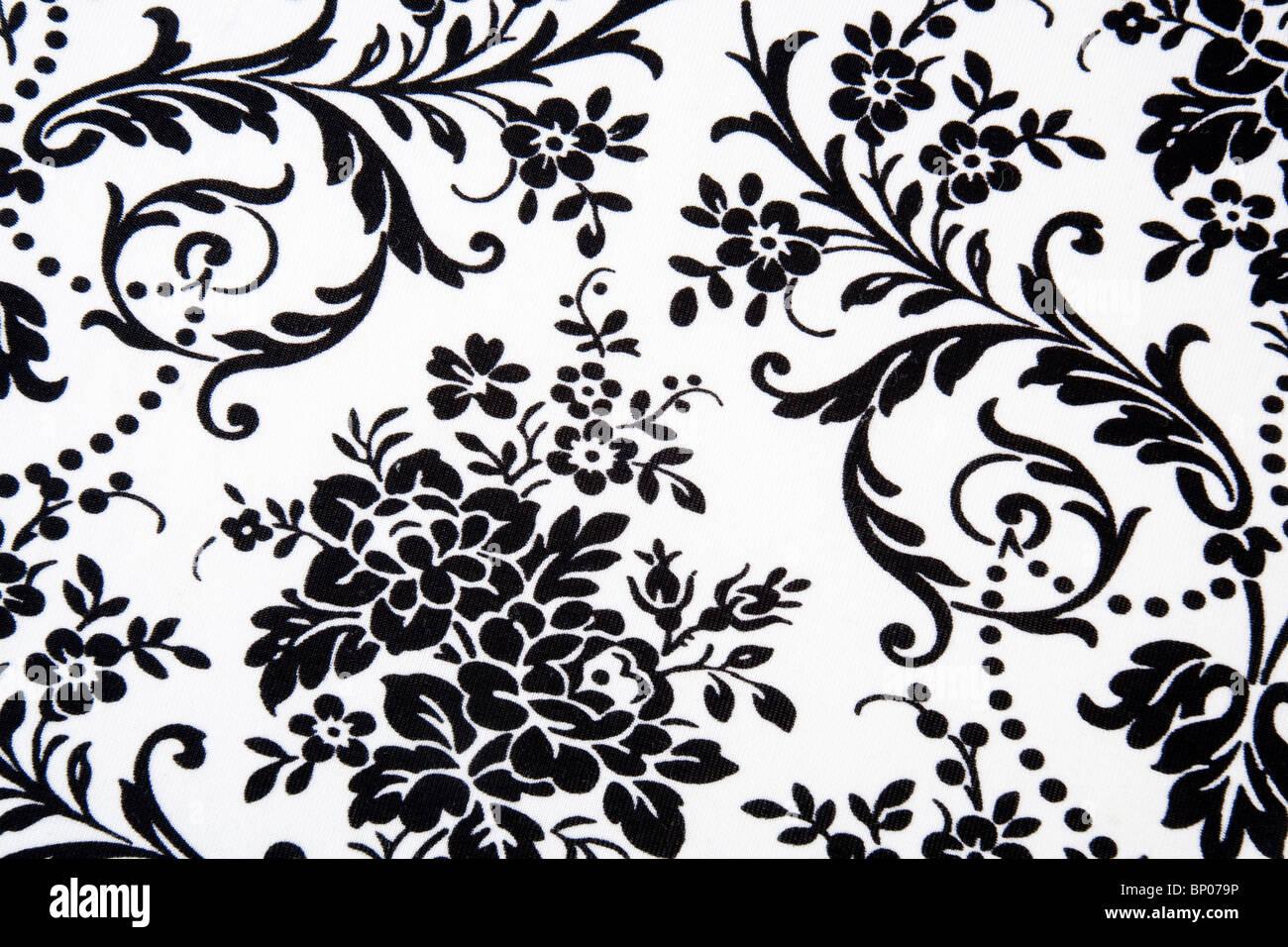Schwarzen & weißen nahtlosen Blumenmuster Stockbild