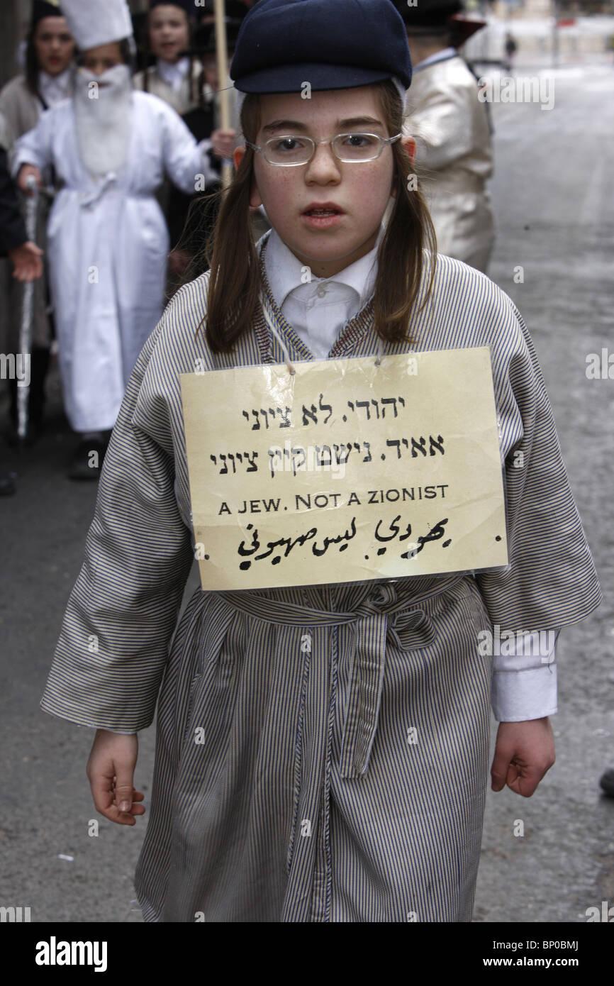 Israel Jerusalem Kinder Purim Urlaub in Mea Shearim