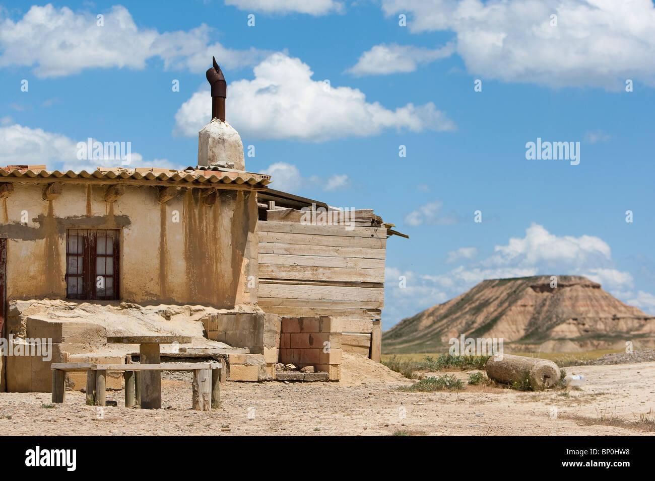 Spanien, Navarra, Hirten-Hütte in Wüste Bardenas Reales Stockfoto