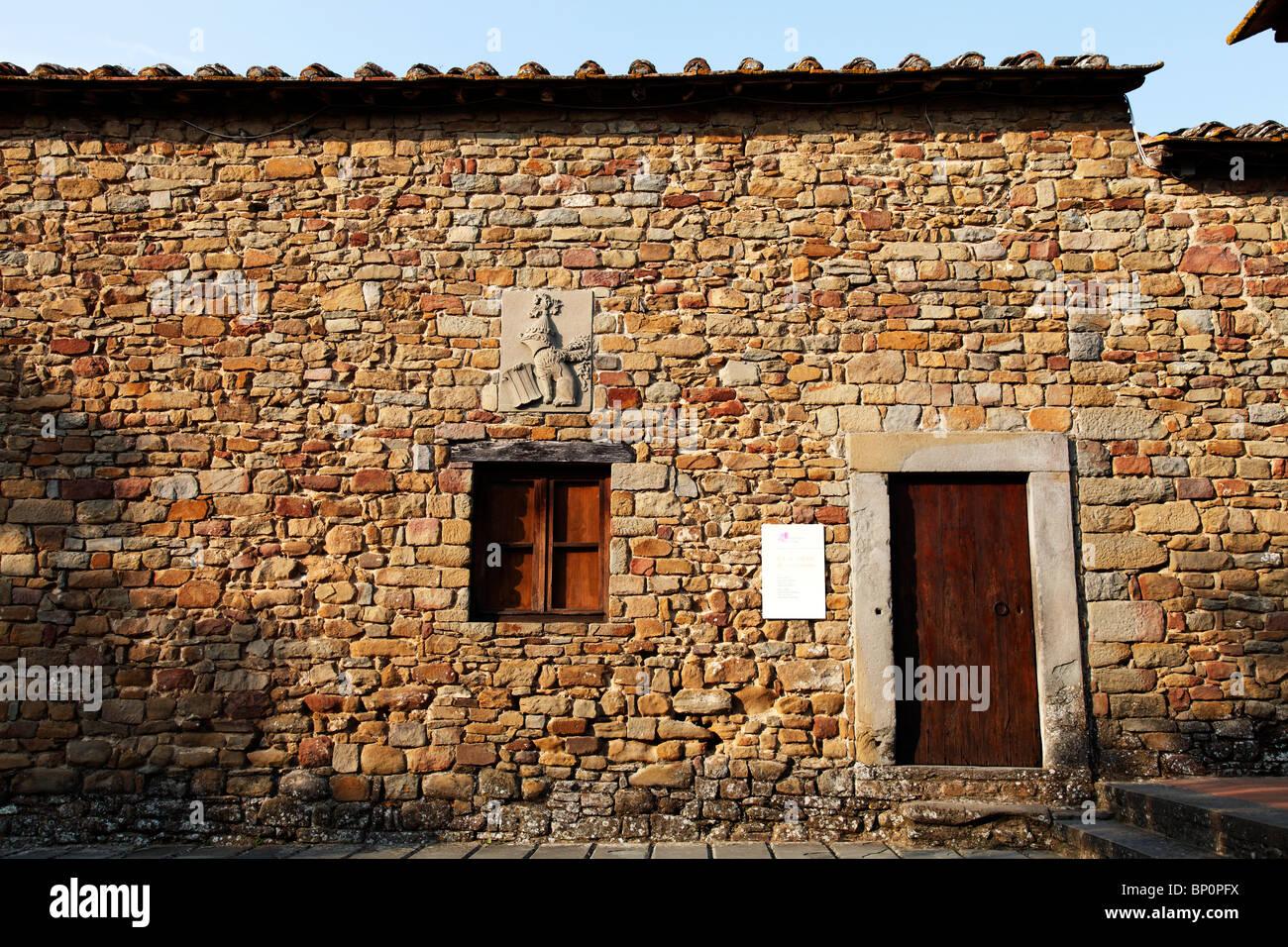 LEONARDO DA VINCI Haus Vinci Toskana Italien Stockfoto, Bild ...