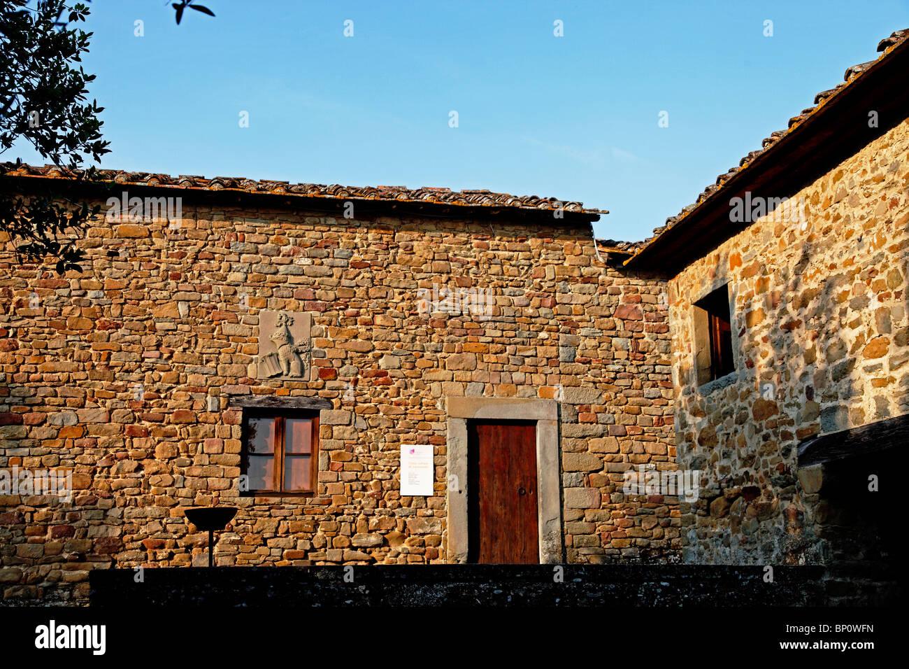 Leonardo Da Vinci Haus leonardo da vinci haus vinci toskana italien stockfoto, bild