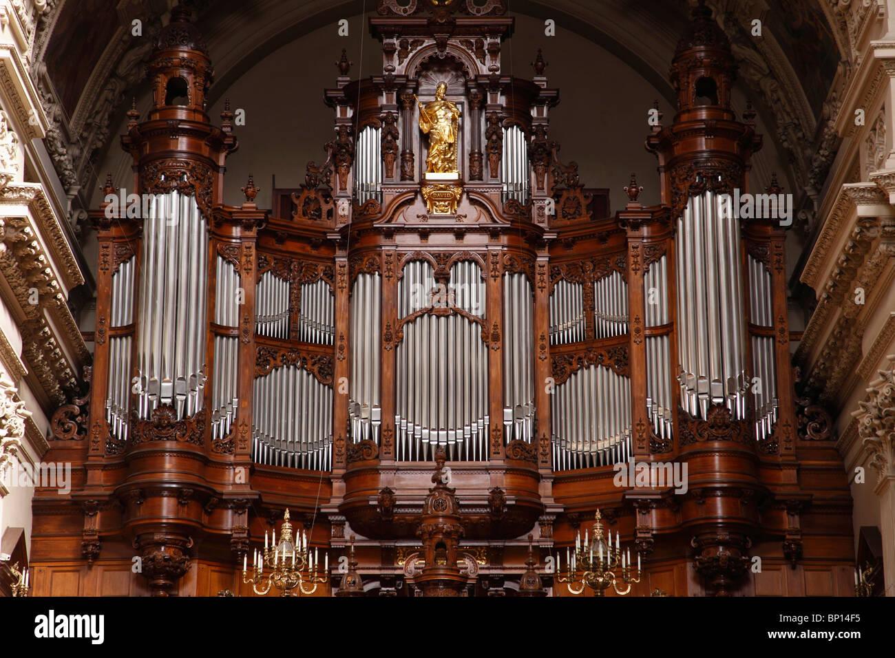 Deutschland, Berlin, Dom, Kathedrale, innen, Orgel Stockbild