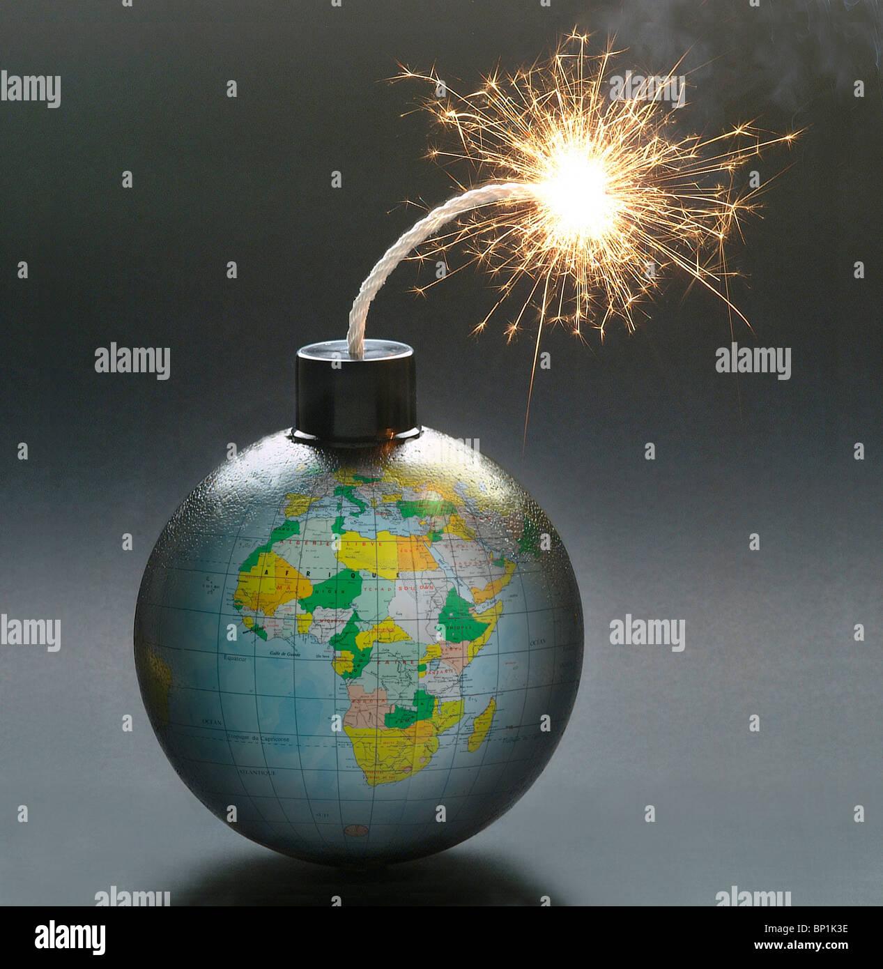 Globus-Bombe Stockbild