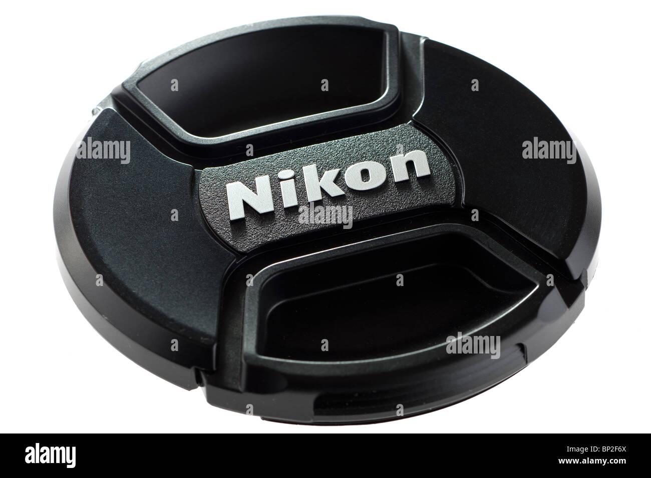 Neue Nikon pinch Objektivdeckel Art Stockbild