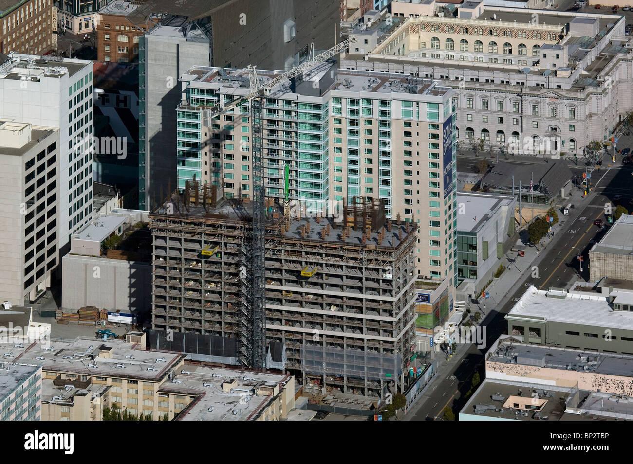 Luftbild oben Hochhaus Bau Mission Street San Francisco Kalifornien Stockbild