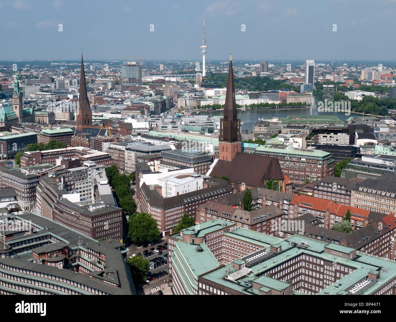 Der Stadt Hamburg stadtbild der stadt hamburg in deutschland stockfoto bild 30823941