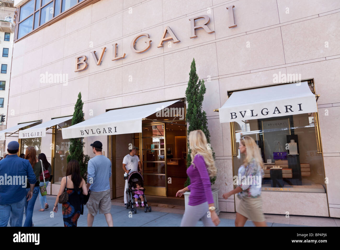 Bulgari Store auf dem Rodeo Drive, Los Angeles, Kalifornien, USA Stockbild 46df5c23ffa