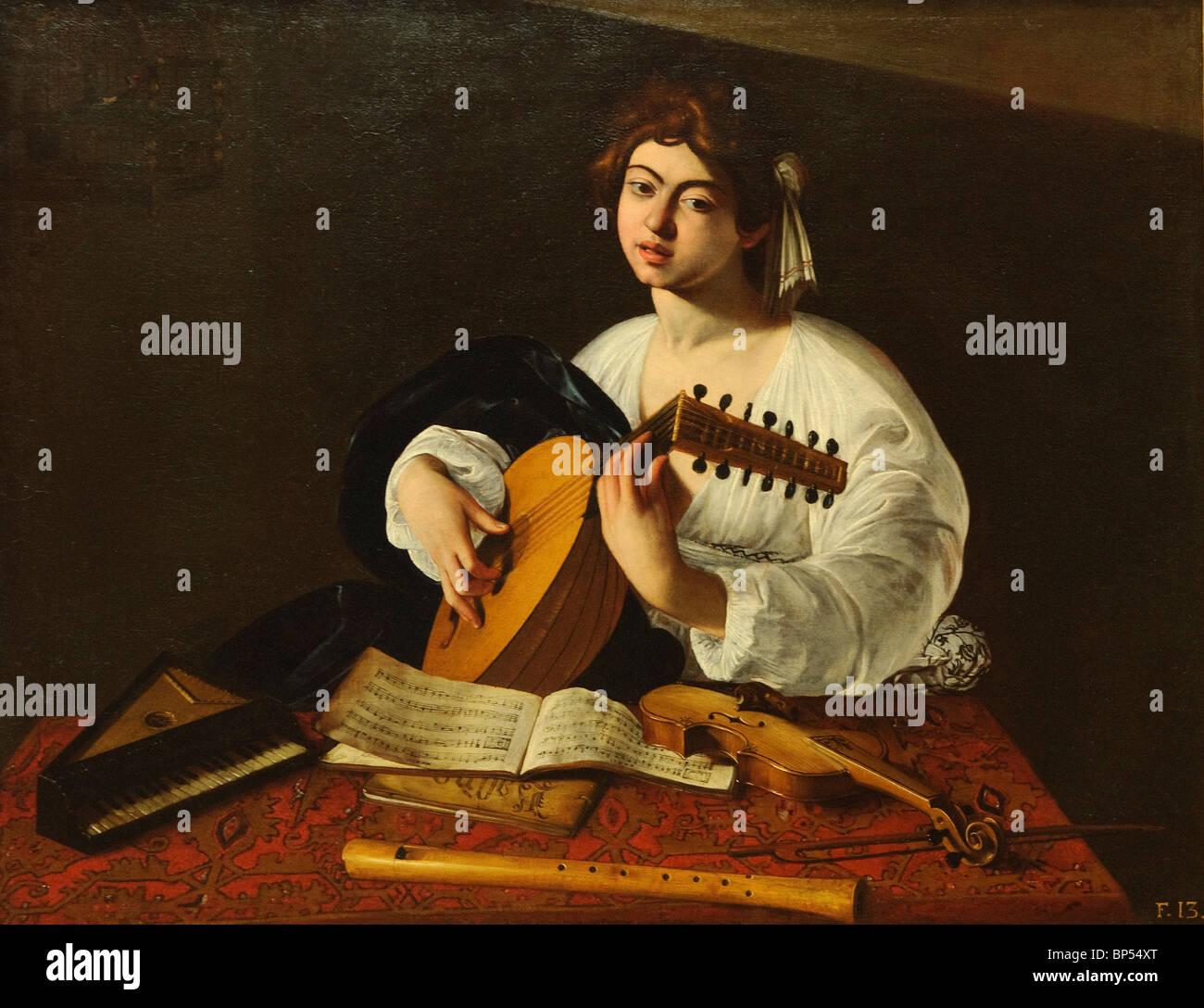Der Lautenspieler, wahrscheinlich ca. 1597, von Caravaggio (Michelangelo Merisi), Metropolitan Museum of Art, New Stockbild