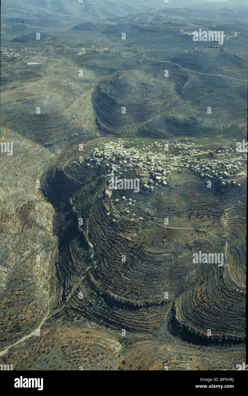 3653. SAMARIA - DAS HÜGELLAND NÖRDLICH VON JERUSALEM, ALOTED AN DEN STAMM BINJAMIN Stockbild