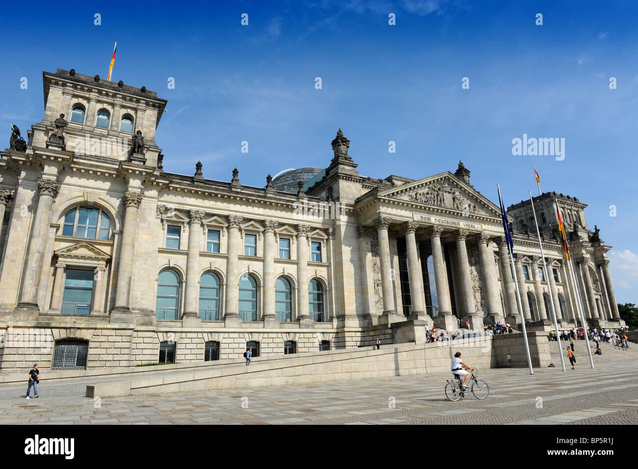 Das Reichstagsgebäude oder Bundestag Berlin Deutschland Deutschland Europa Stockbild