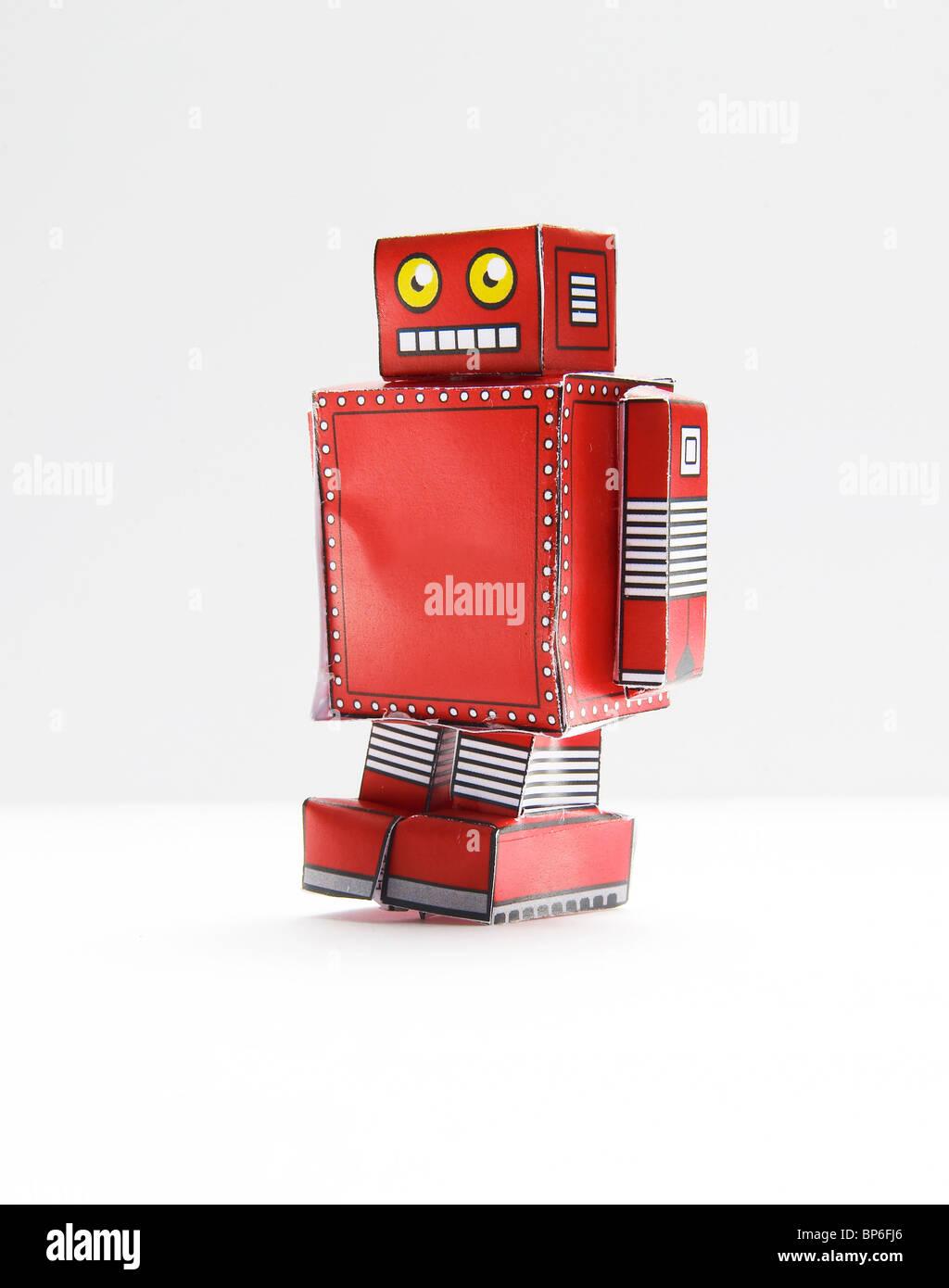 Lustiges Spielzeugroboter Stockbild