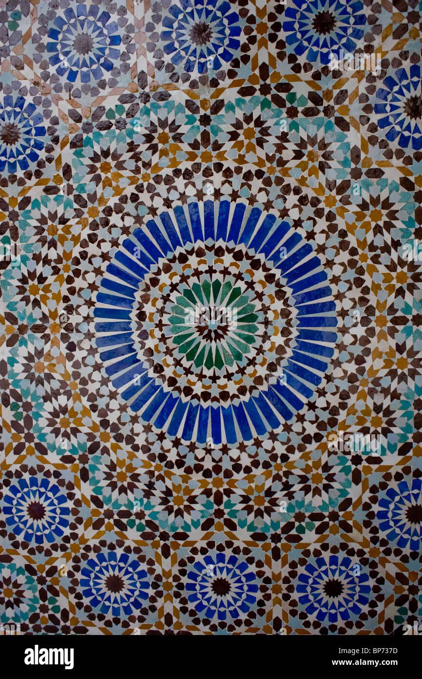 Paris, Frankreich, Religion, Moschee, Detail, Mosaik Fliesen ...
