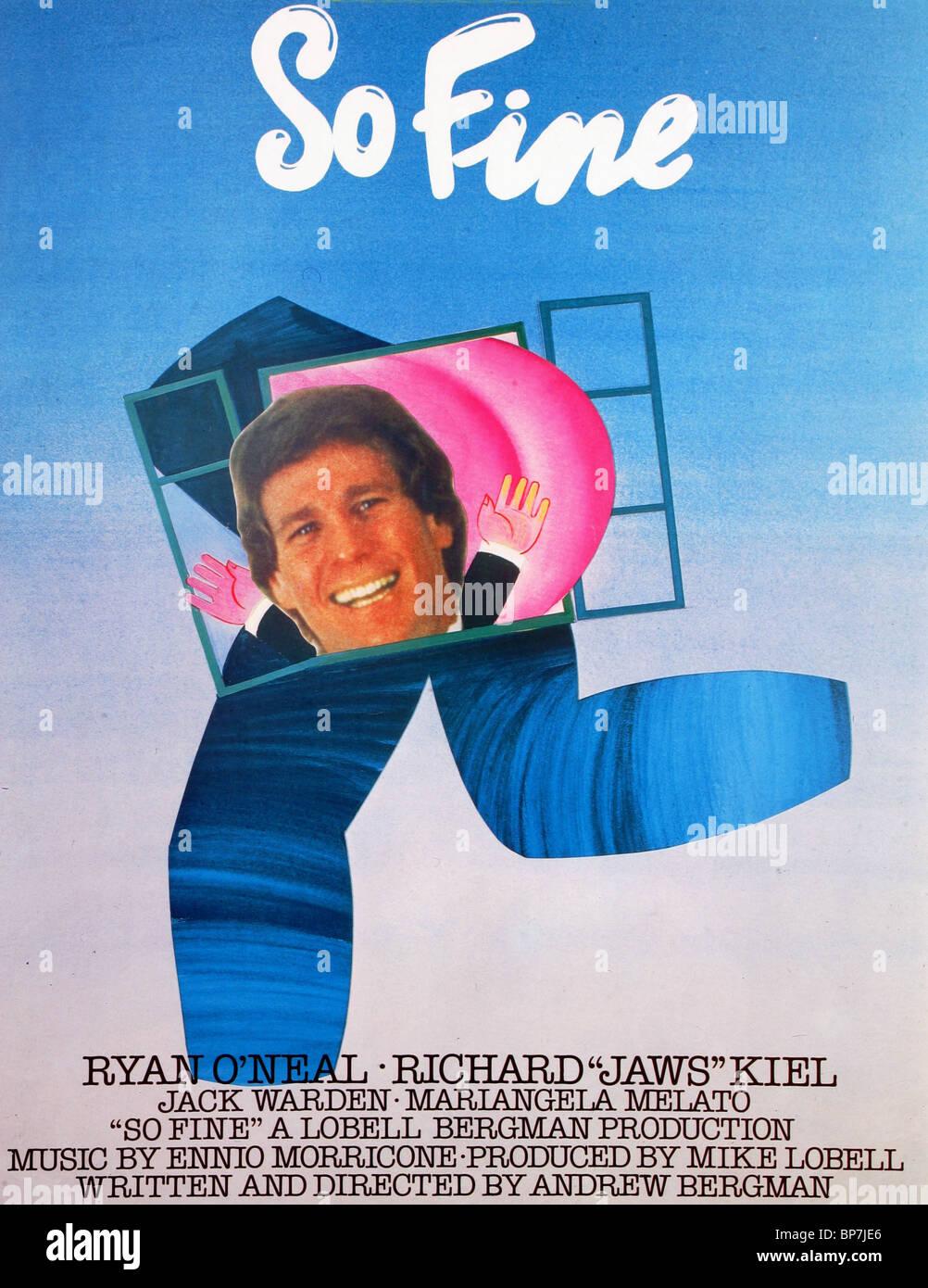 FILM POSTER SO FEIN (1981) Stockbild