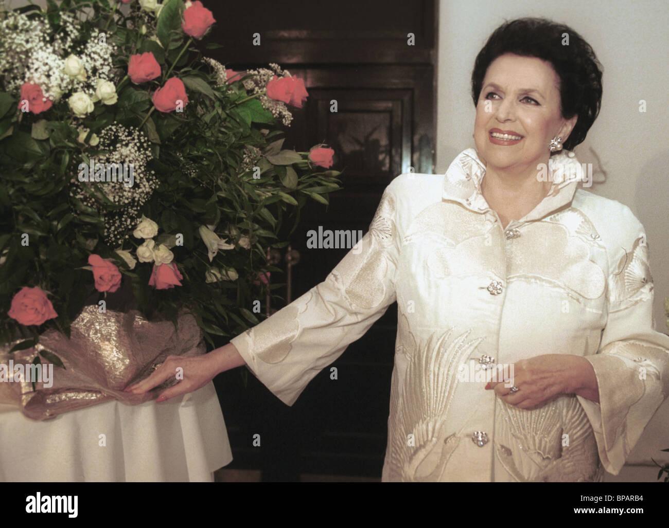 Jubiläums-Soiree der russischen Oper Sterne Galina Vishnevskaya Stockbild