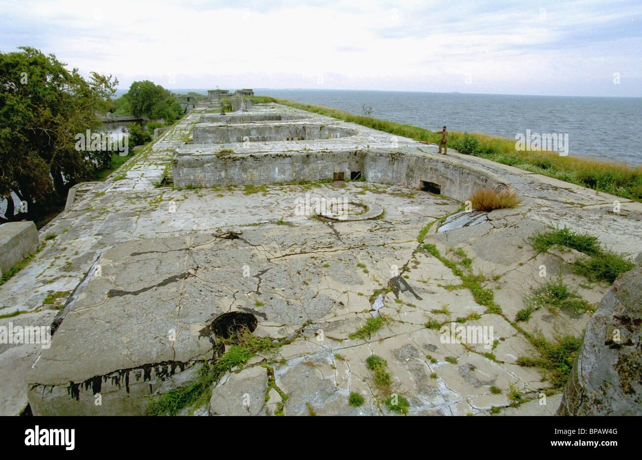 Fort Totleben - eine legendäre Denkmal Stockbild