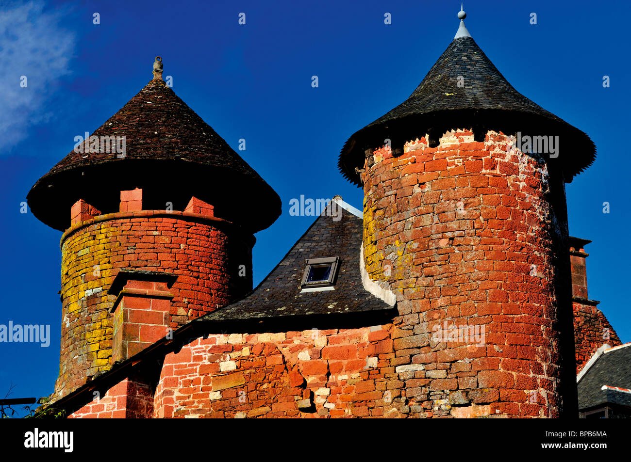 Frankreich: Herrenhaus in Collonges-la-Rouge Stockbild