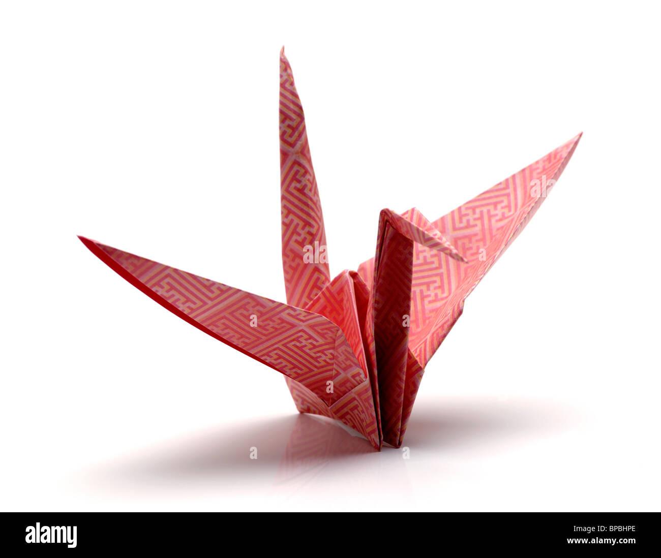 Origami Papier Kran Vogel Stockbild