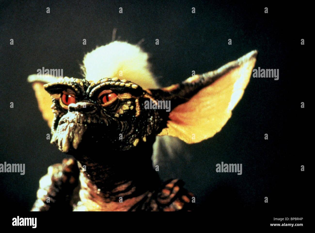 STRIPE GREMLIN aus dem Film GREMLINS (1984) Stockbild