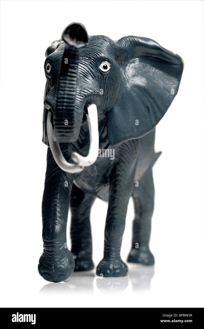 Kunststoff-Spielzeug-Elefanten Stockbild