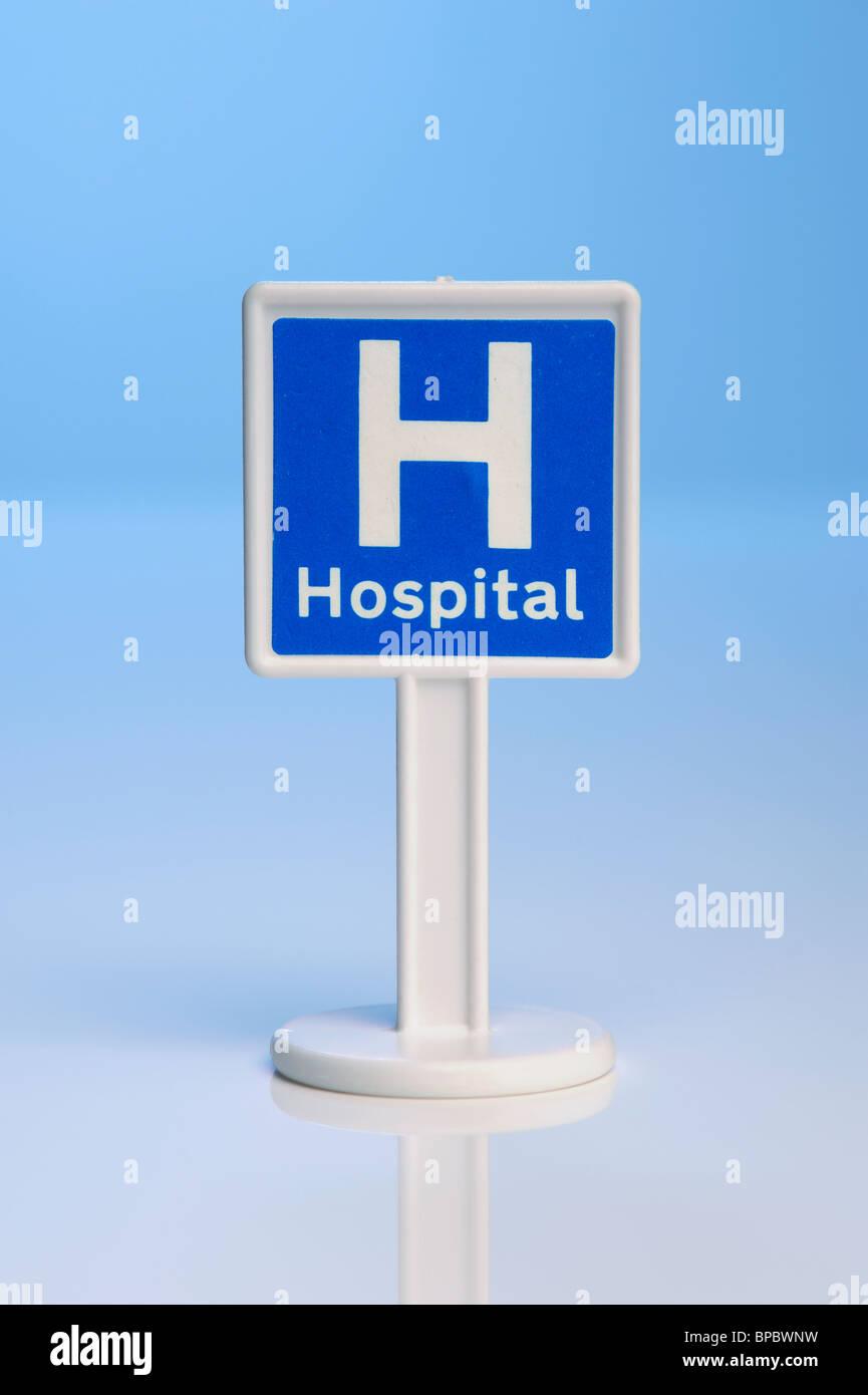Spielzeug-Krankenhaus Zeichen Stockbild