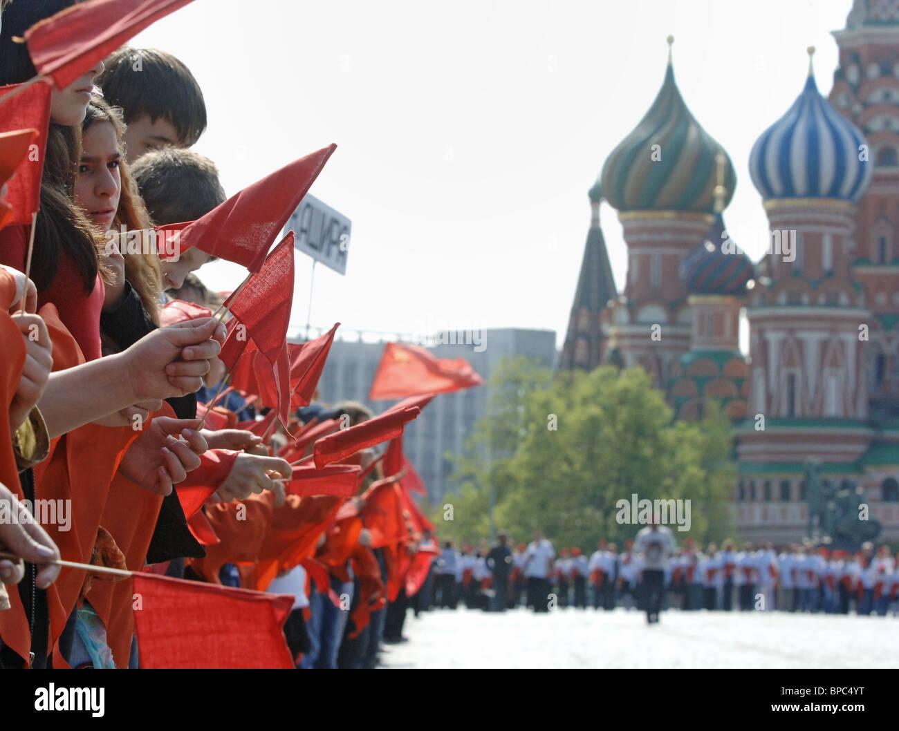 Zulassung für neue Pioniere Zeremonie in Moskau Stockfoto