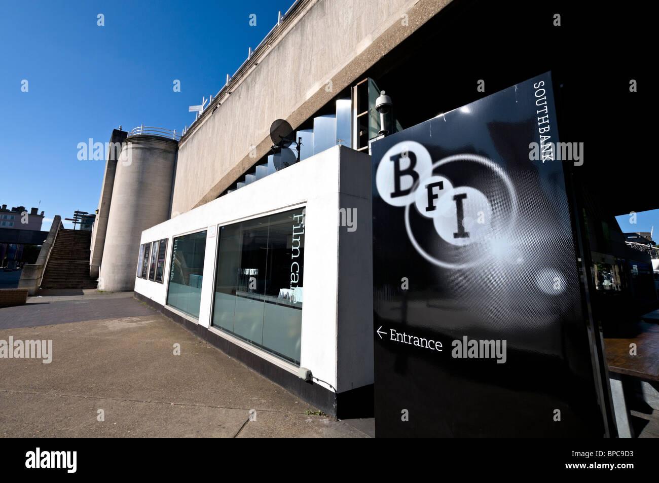 South Bank BFI Eingang Stockbild